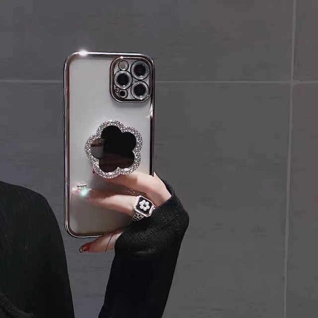 Shining glitter grip iphone case