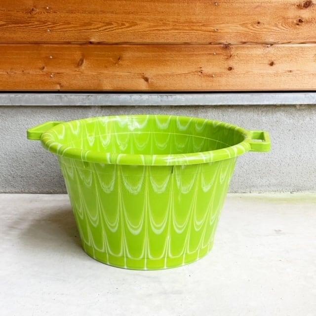 Africa Plastic marble pattern bucket アフリカ マーブル プラスチック バケツ25L