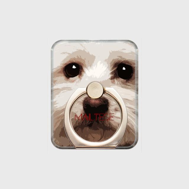 マルチーズ おしゃれな犬スマホリング【IMPACT -color- 】