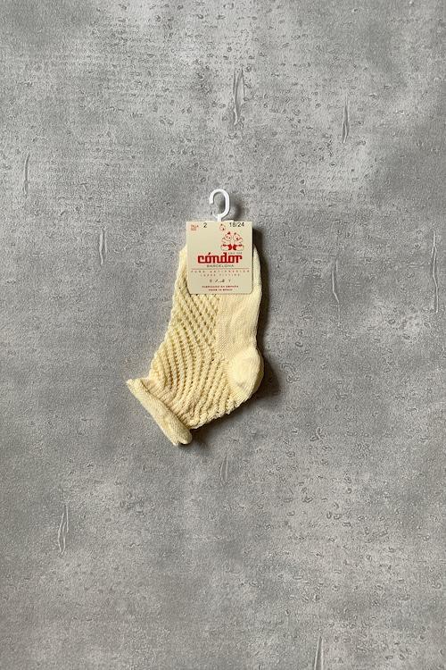 condor netl openwork perle short socks with rolled cuff kids