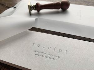 【活版印刷】領収書 / Money receipt