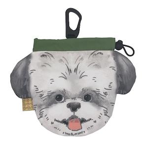 犬のウンチバッグ M【シーズー】(白色 x 黒色)