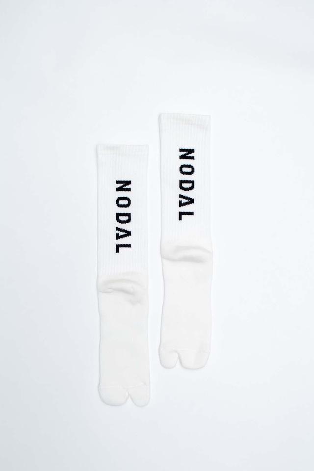 NODAL Logo Socks(White × Black)
