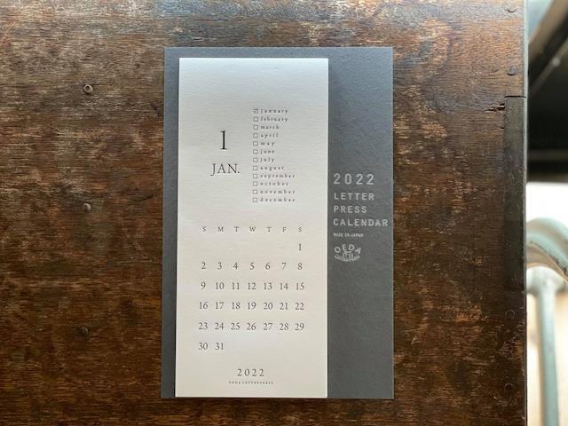 LETTERPRESS カレンダー 2022