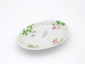 野の花 楕円皿(工房直売価格)