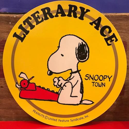 スヌーピー PEANUTS 小説王 特大ステッカー 限定品 2000年製。