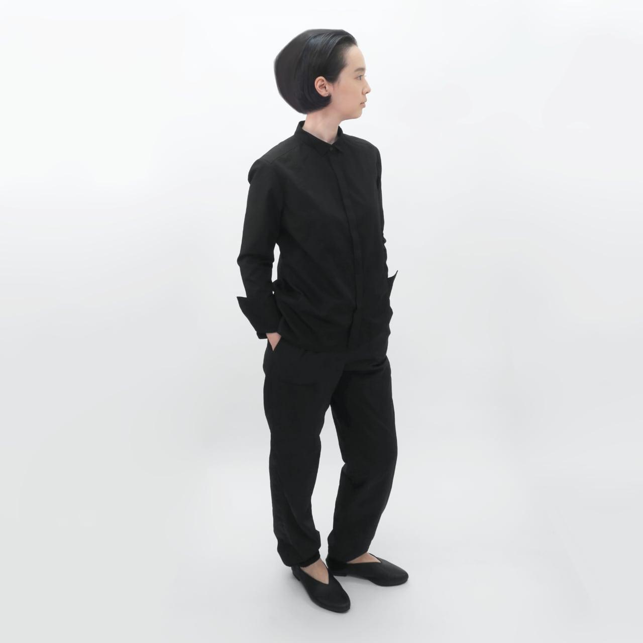 受注制/ポリエステル混コットン/比翼/ウイングカラーシャツ/T-5