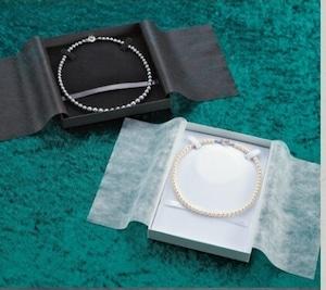 オメガネック用ケース正方形 ネックレス台紙付き 12個入り  OG-01