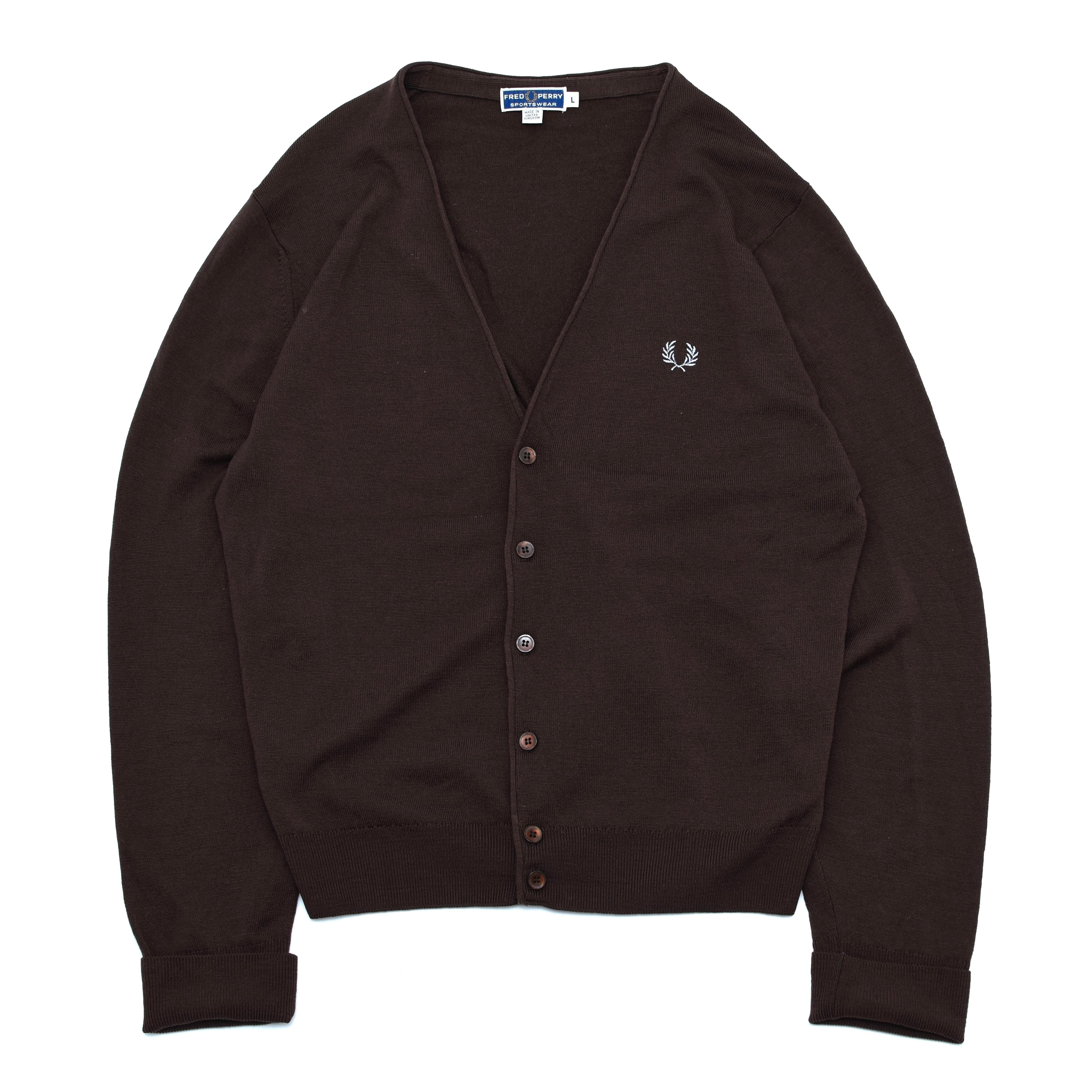 Made in U.K Fred Perry knit cardigan