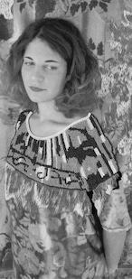 オレリーマティゴ ロングスカーフ Femme モノクロ