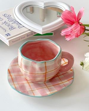 pink pattern mug set