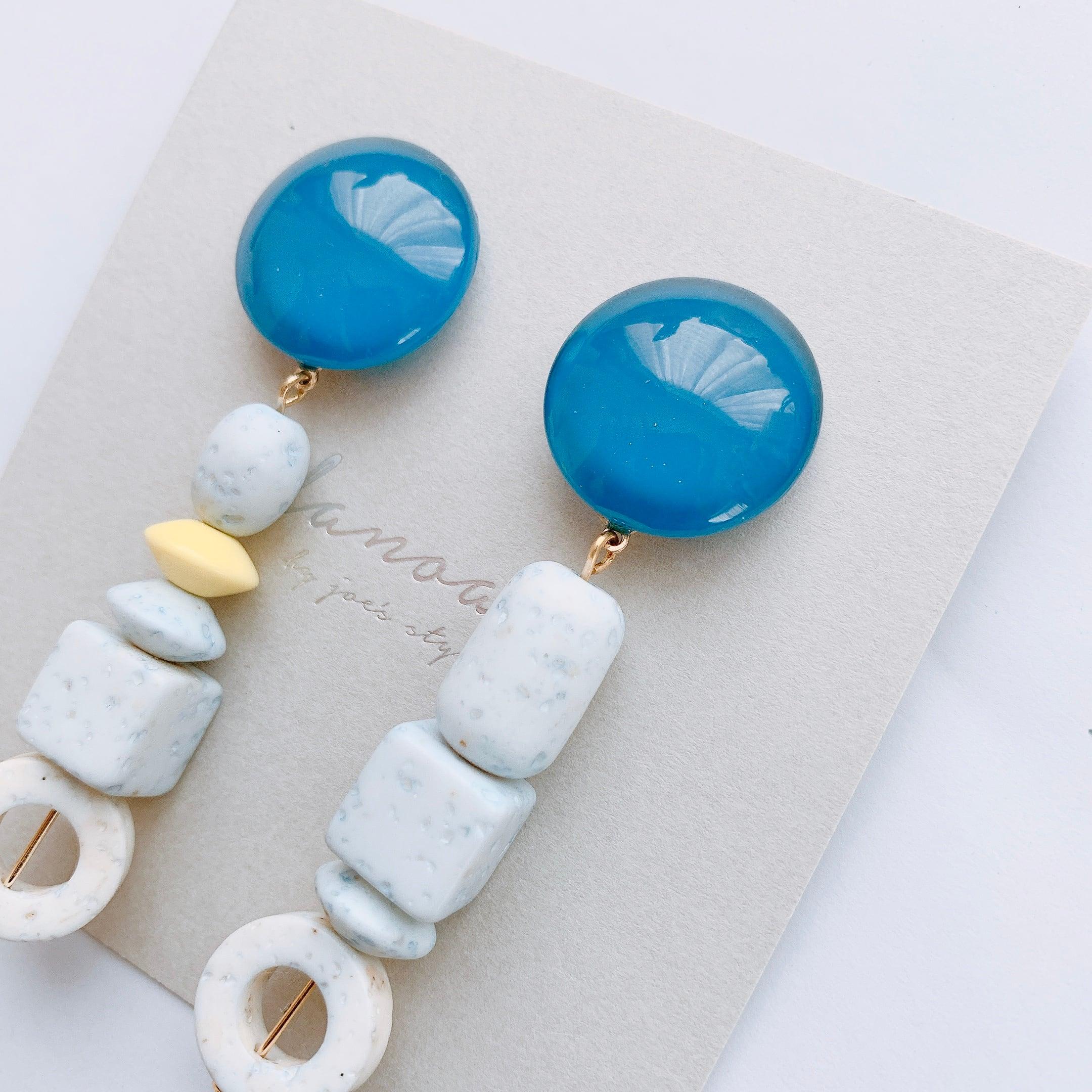 """ Earrings NO.danoan-1-1723″ ペイント×フランスヴィンテージ"