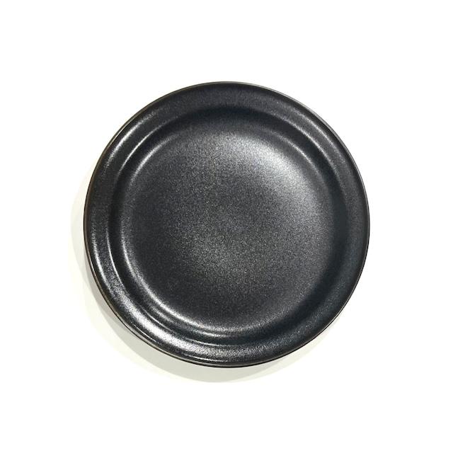 【SALE】黒マット 7寸皿《デッドストック》