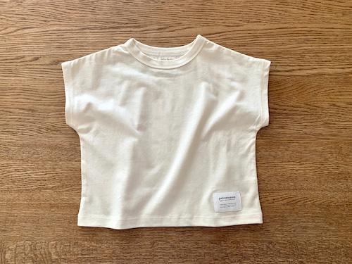 オフスリーブTシャツ・白 90cm