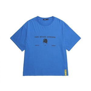 211207 FLOWER BONE TEE / BLUE