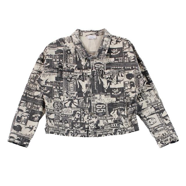 RHUDE Print Denim Jacket
