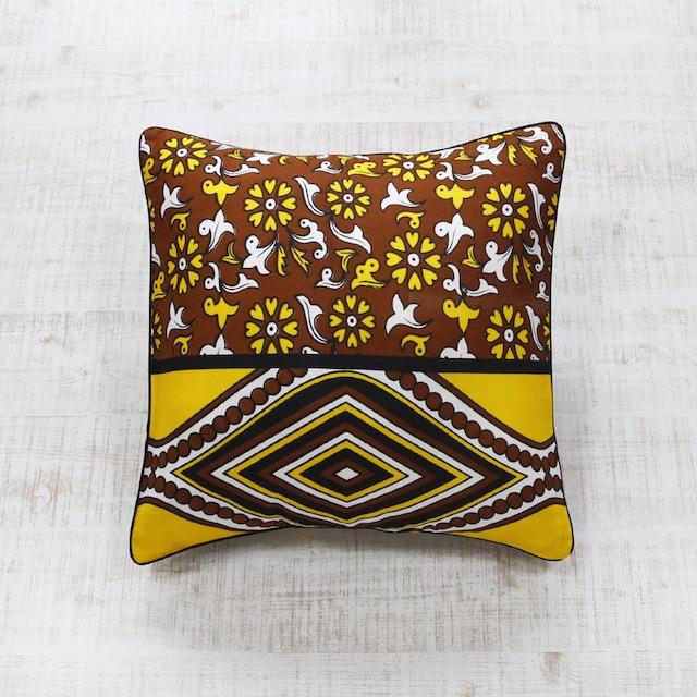 アフリカ布クッションカバー|45×45 / カンガ / アフリカンプリント