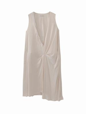 Peal drape dress  / white / S15DR05