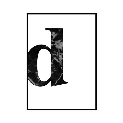 """""""d"""" 黒大理石 - Black marble - ALPHAシリーズ [SD-000531] A4サイズ ポスター単品"""