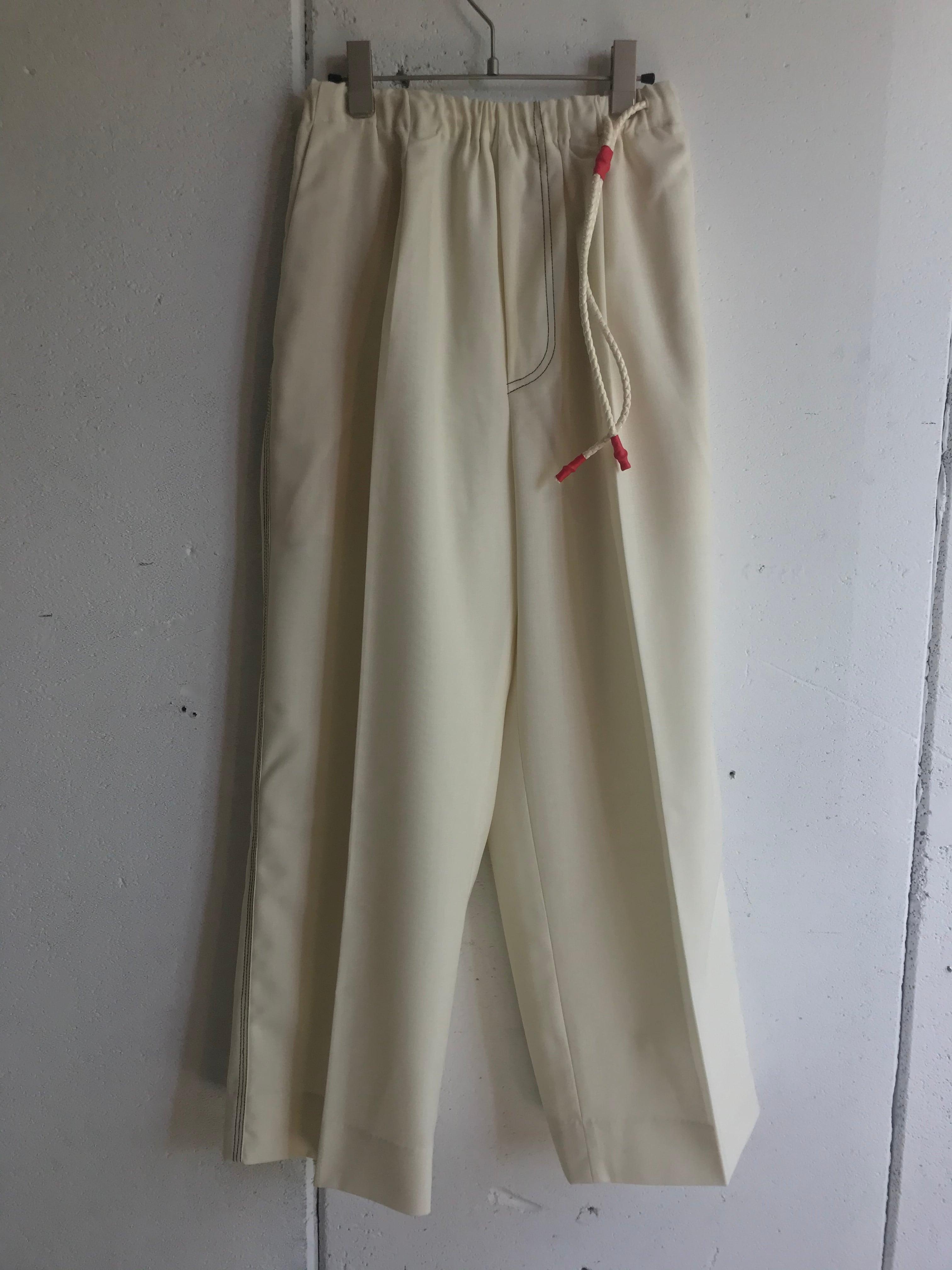 PONTI  wool wide pants