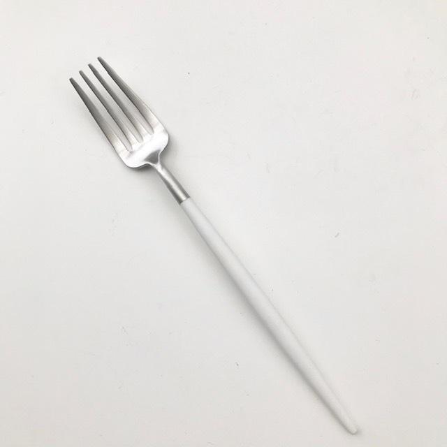 【cutipol クチポール】デザートフォーク  GOA ホワイト×シルバー 正規品