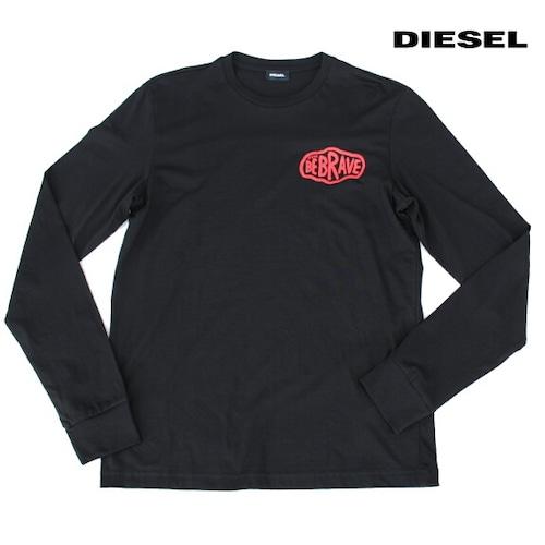 DIESEL ディーゼル Tシャツ 長袖 プリント Tシャツ ロンT メンズ T-DIEGO-LS-K24 BLACK 2021年秋冬モデル
