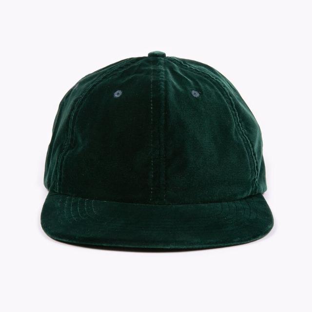 MAIDEN NOIR VELVET BALL CAP - PINE