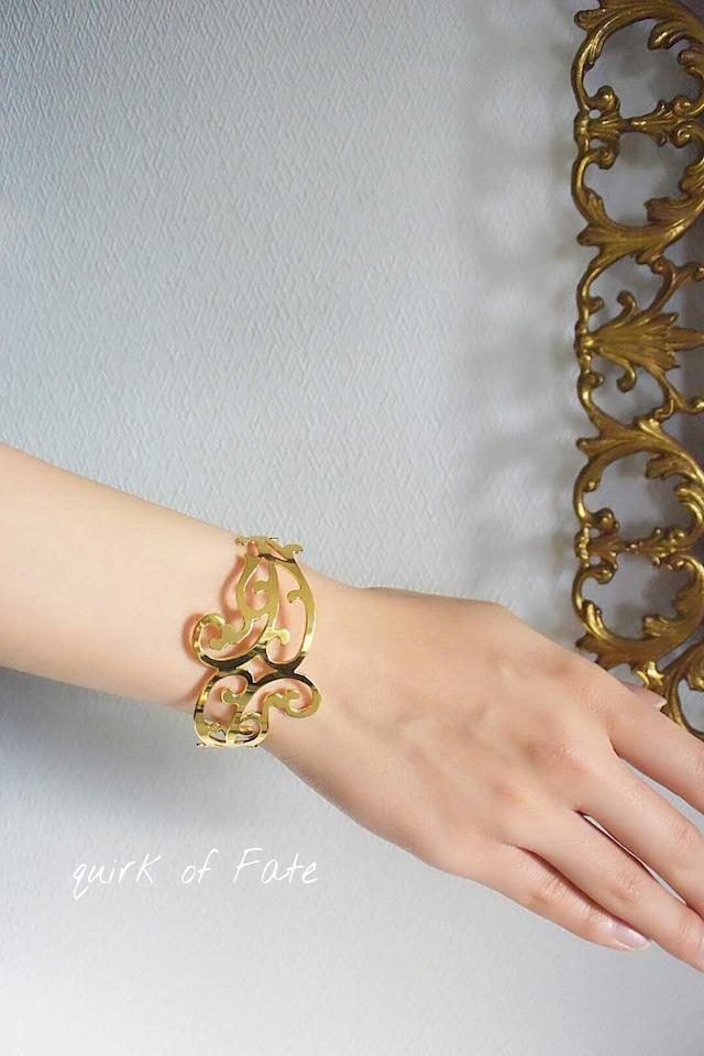 "Arabesque Design Bangle ""double"" gold アラベスクバングル ダブル ゴールド"