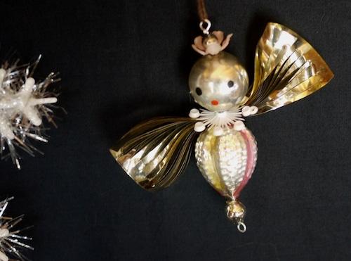 クリスマス ガラスクーゲル 天使 ハチドリ