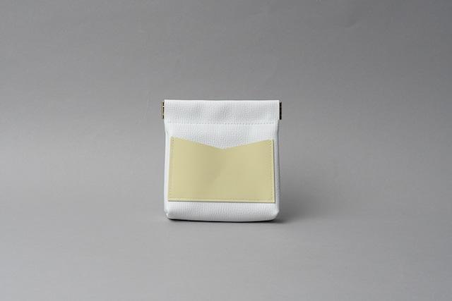 ワンタッチ・コインケース ■ホワイト・レモン■ - メイン画像
