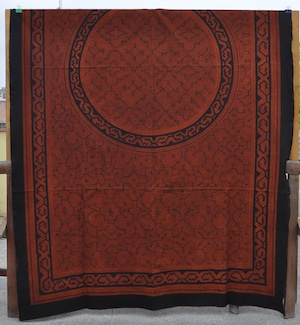 ベッドカバー 21 超特大 000x150cm AAA アマゾン シピボ族の泥染め 円