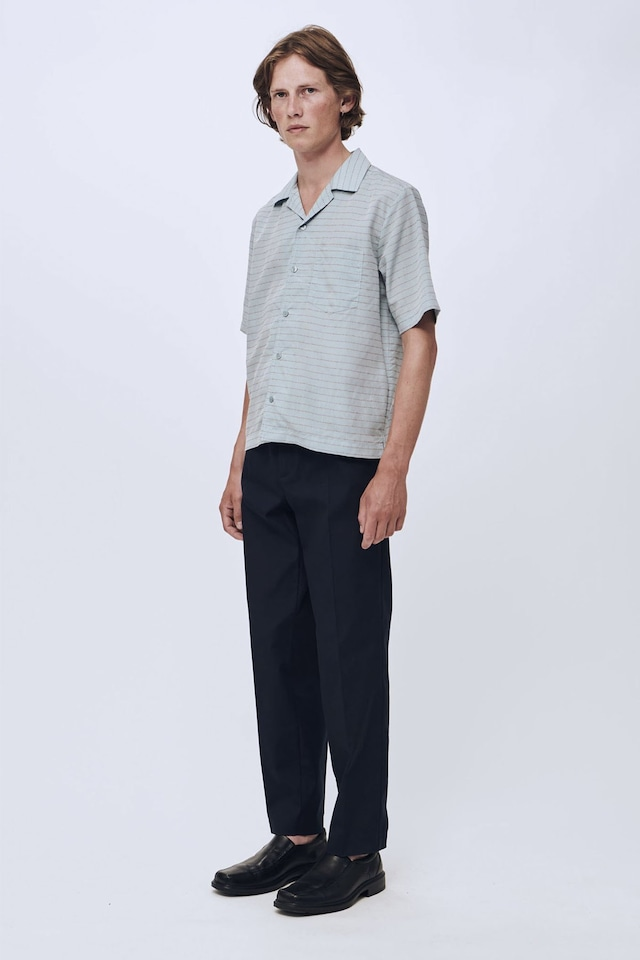 Soulland pappy shirt sleeves blue