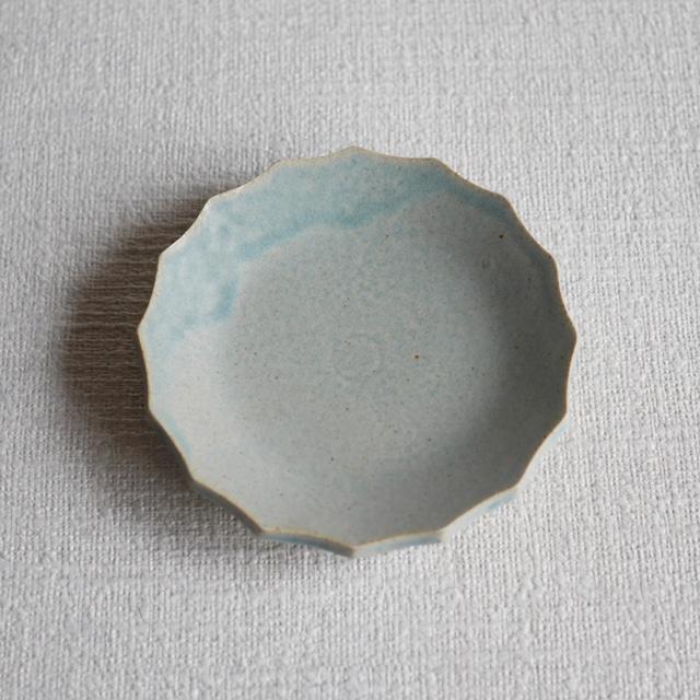 輪花皿 Blue S