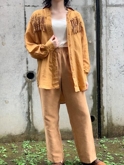 Vintage Silk Fringe Shirt