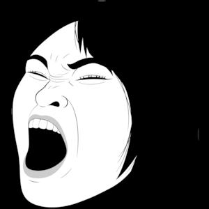叫び顔の女性①