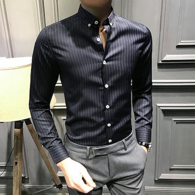 ビジネスシャツ ワイシャツ メンズ ドレスシャツ 長袖 Yシャツ インナー トッtps-1631