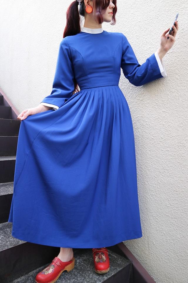Blue long onepiece
