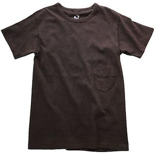 FilMelange (フィルメランジェ)泥染めTシャツ  DIZZY ディジー オーガニックコットン 吊り編み ポケットTシャツ -DOROZOME-