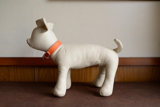 シンプルなオレンジの小型犬用首輪 K-so10bb