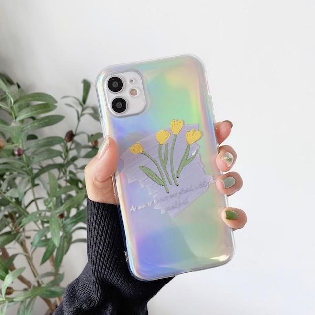 オーロラシート付♪ Yellow flower iphone case