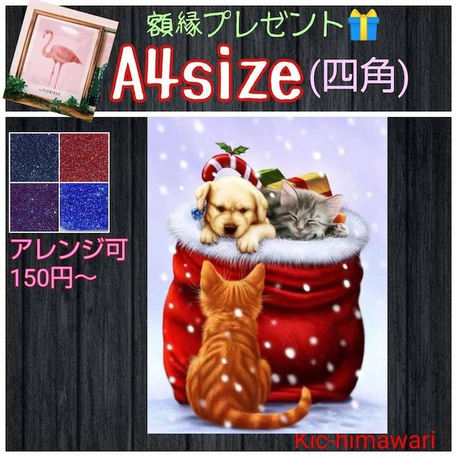 A4サイズ・四角【s9702】✨額縁付き✨フルダイヤモンドアート