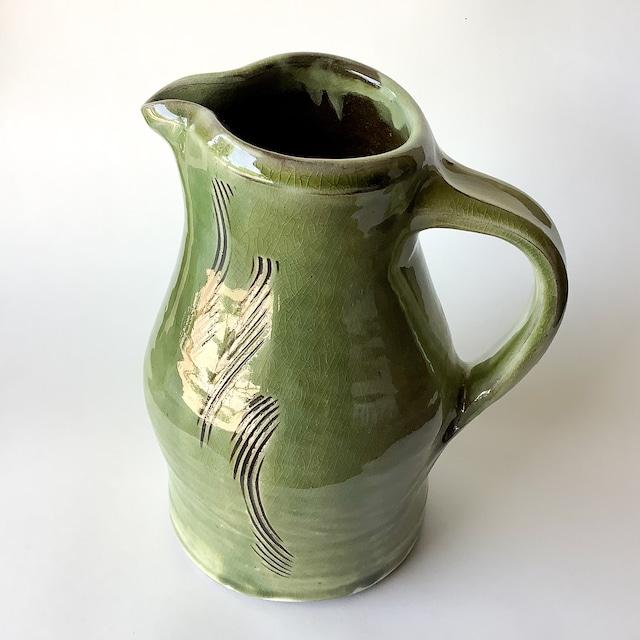 小鹿田焼 坂本工窯 - ピッチャー (緑)