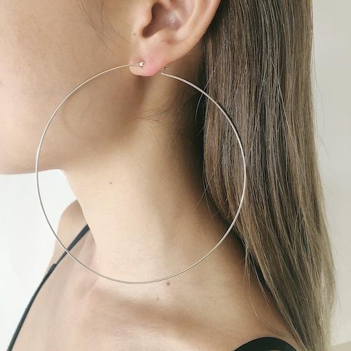 Super big hoop pierce / silver