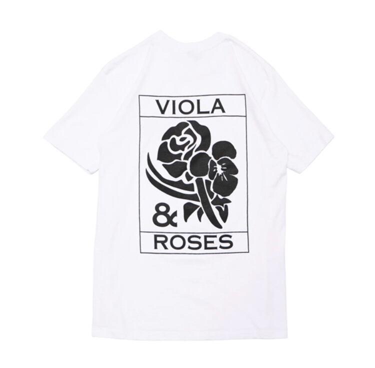 VIOLA&ROSES CLASSICモノクロTEE NO.2 WT