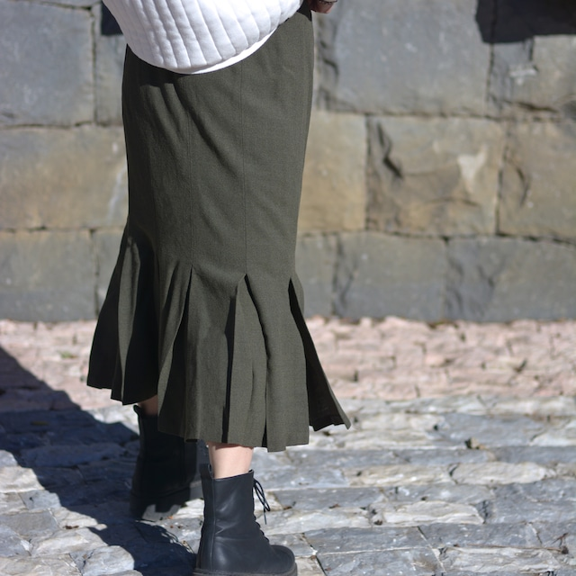 【MADE IN FRANCE】WEINBERG スリット フレアロングスカート