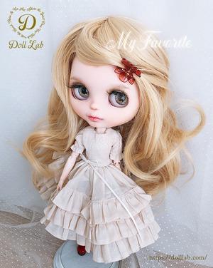 DWL014-A108-10inアリスシフォン[10inch]クレッセントゴールド 髪なしブライス ドール ウィッグ