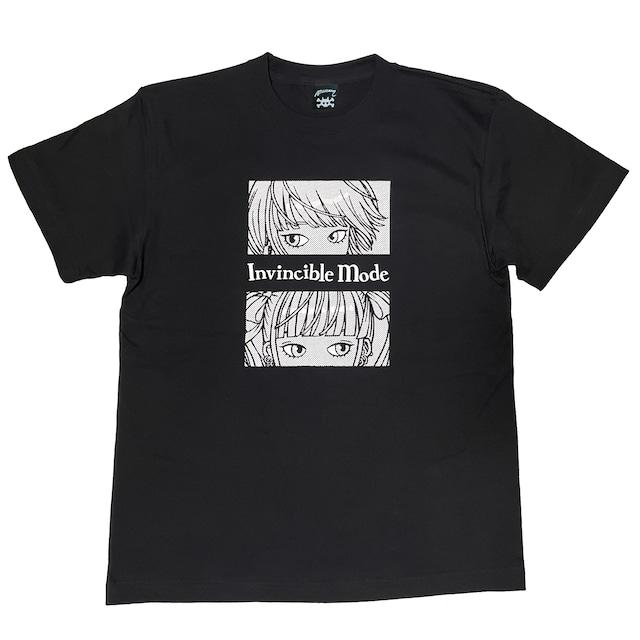 """"""" 無敵のミー """" Tシャツ black × white [ T-018]MIKAZUKI / ミカヅキ"""