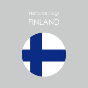 円形国旗ステッカー「フィンランド」