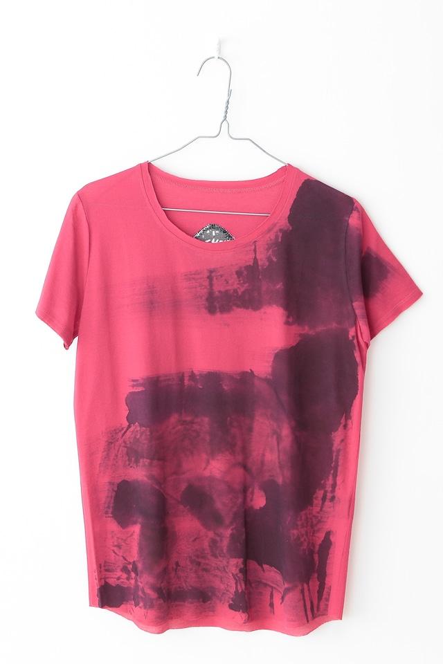 Tshirt【COTTON コットン】[Hand Painted]PINKCS2116[税/送料込][受注生産]