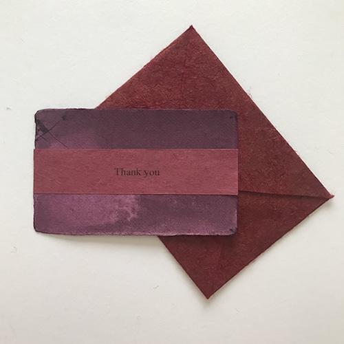 和紙のサンキューカード(Thankyou010)